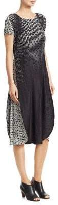 Issey Miyake Sunlight Dots Pleated Dress