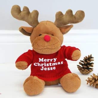 Sparks Living Personalised Christmas Reindeer Toy