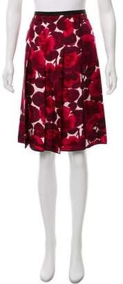 Marc Jacobs Silk Floral Print Skirt