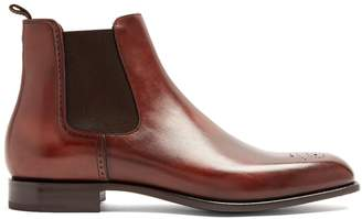 Prada Perforated leather chelsea boots