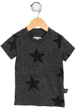 Nununu Boys' Star Print Short Sleeve Shirt