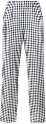 Emilia Wickstead Arabella gingham trousers
