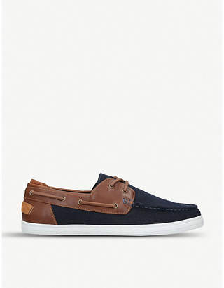 Aldo Lovidda denim and faux-leather boat shoes