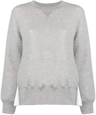 Sacai box pleat panel sweatshirt