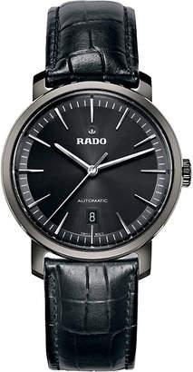 Rado R14074175 Diamaster ceramic and leather watch