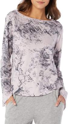 Michael Stars Marble Print Boatneck Top