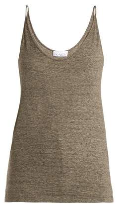 Raey Deep Scoop Neck Jersey Cami Top - Womens - Charcoal