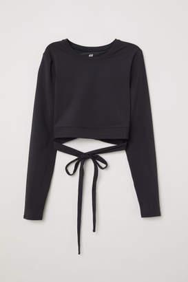 H&M Short Yoga Top - Black