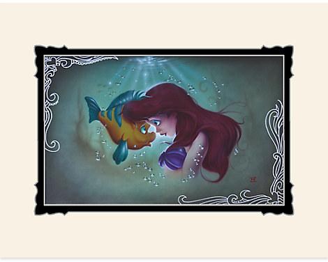 The Little Mermaid ''Ariel Flounder'' Deluxe Print by Noah