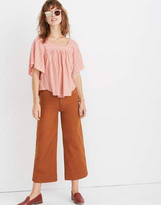 Madewell Butterfly Top in Slope Stripe