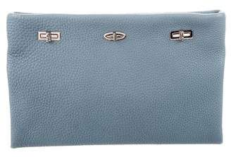 VBH Pebbled Leather Clutch