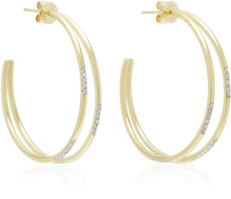 Meira T 14K Gold Diamond Hoop Earrings