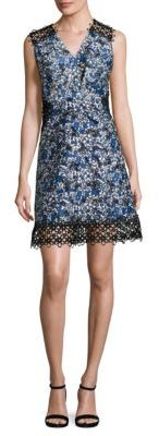 Elie Tahari Embroidered Panelled Sleeveless Dress $448 thestylecure.com