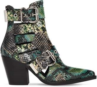 Jeffrey Campbell 75mm Guadalupe Snake Print Leather Boots