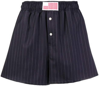 Matthew Adams Dolan striped fitted shorts