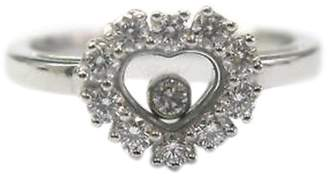 Chopard Happy 18K White Gold with Diamond Ring Size 6.5