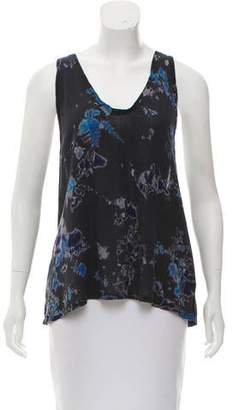 Raquel Allegra Sleeveless Floral Silk Top