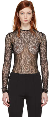 Givenchy Black Lace Bodysuit