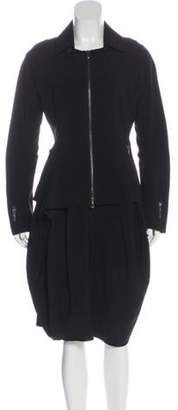 Ivan Grundahl Long Sleeve Knee-Length Skirt Set Black Long Sleeve Knee-Length Skirt Set