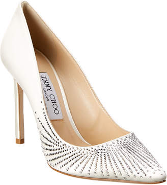 Jimmy Choo Romy Shooting Crystals 100 Satin Pump