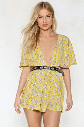 Nasty Gal Cape in Touch Floral Romper