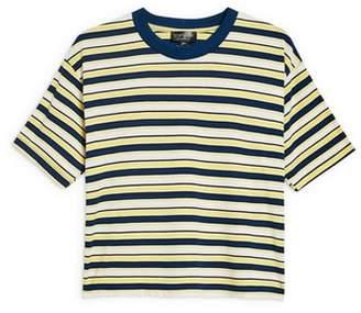 Topshop Multi Stripe Boxy T-Shirt
