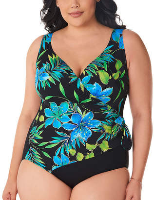 0d42077dd7 Robby Len By Longitude Floral One Piece Swimsuit Plus