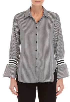 Almost Famous Stripe Bell Cuff Shirt