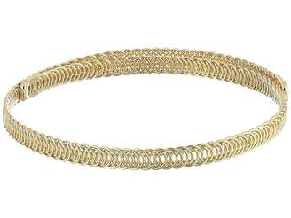Kenneth Jay Lane Polished Gold Braided Wrap Around Dog Collar Necklace