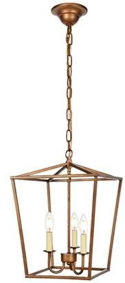 Gracie Oaks Sennett 3-Light Lantern Pendant