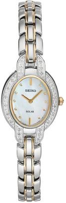 Seiko Women's Tressia Diamond Two Tone Stainless Steel Solar Watch - SUP325