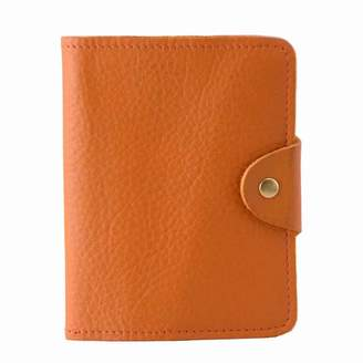 N'Damus London - Luxury Italian Leather Orange Passport Cover