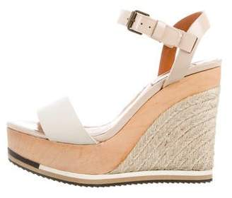 Lanvin Leather Espadrille Wedges
