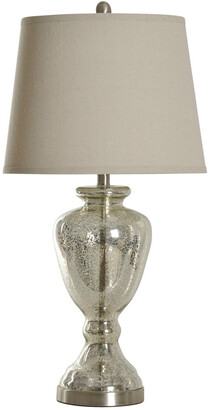 Stylecraft Style Craft 30In Mercury Glass And Brushed Nickel Table Lamp