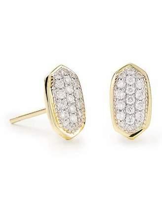 Kendra Scott Amelee 14k Gold Diamond Stud Earrings