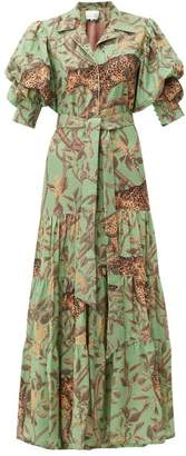 Johanna Ortiz Majestic Safari Jungle Print Cotton Maxi Dress - Womens - Green Multi