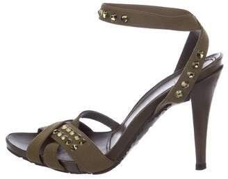 Pedro Garcia Embellished Woven Sandals