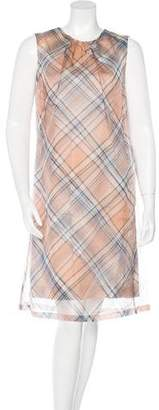 Dries Van Noten Plaid Silk Dress