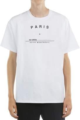 Raf Simons Oversize Tour Print Jersey T-Shirt