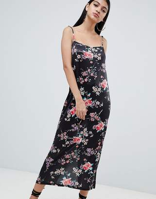 Asos DESIGN floral printed maxi slip dress