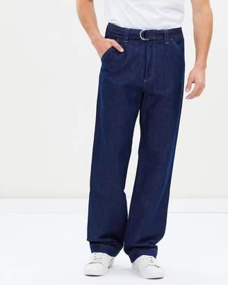 Cerruti Cotton Linen Blend Denim Pants