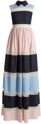 HUISHAN ZHANG Rivet multi-print patchwork dress