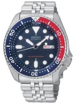 Seiko Mens Silvertone Diver Watch