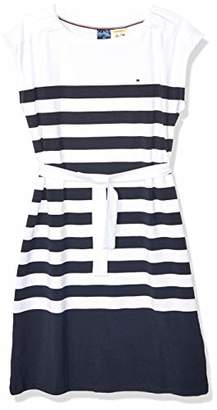 Tommy Hilfiger Women's Adaptive Striped Dress with Magnetic Closure at Shoulders