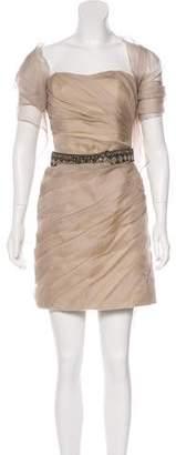 Christian Siriano Silk Strapless Dress