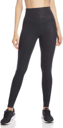 Yummie by Heather Thomson Black Coated-Effect Leggings