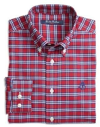Brooks Brothers Boys' Non-Iron Oxford Check Shirt - Little Kid, Big Kid