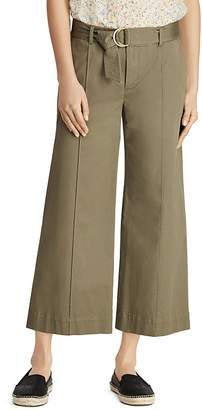 Lauren Ralph Lauren Belted Wide-Leg Ankle Pants