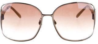 Swarovski Brittany Oversize Sunglasses $145 thestylecure.com
