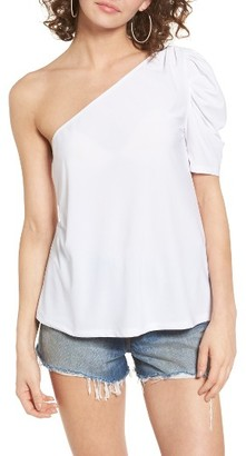 Women's Leith One-Shoulder Top $55 thestylecure.com